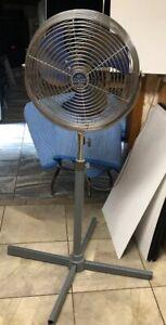 Rare-Patton-High-Velocity-14-metal-Blue-blade-45-62-Pedestal-Fan-3-Speed
