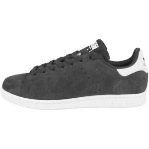 Adidas-Stan-Smith-baskets-de-style-retro-blanc-noir-tennis-Superstar-s82249