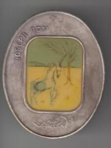 Salvador-Dali-Tribes-of-Israel-JOSEPH-Oval-Color-Medal-105g-Pure-Silver-s-n-640
