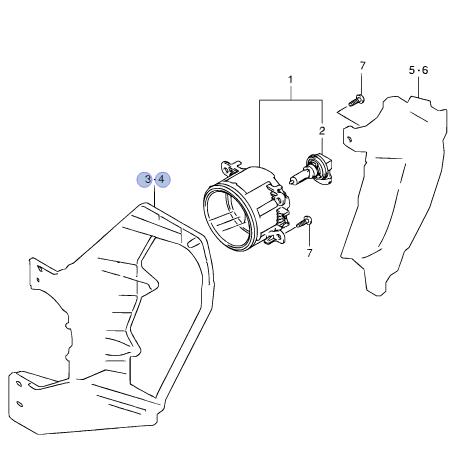 Genuine Suzuki VITARA Fog Light Lamp Inner Bracket Insid Bumper RIGHT 35526 -54P0
