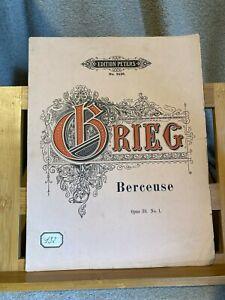 E. Grieg Berceuse pour piano opus 38 n°1 partition éditions Peters n°2426