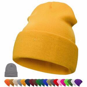Pro-Men-039-s-Women-Beanie-Knit-Ski-Cap-Unisex-Hip-Hop-Blank-Winter-Warm-Wool-Hat