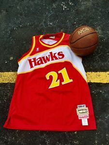 263665d64 Image is loading Dominique-Wilkins-Atlanta-Hawks-Jersey-Size-54-Mitchell-