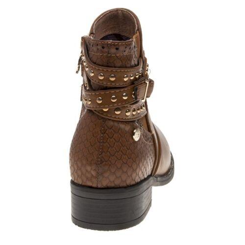 Boots New alla Tan Womens 48433 Zip caviglia Pu Xti elastica xxF8X
