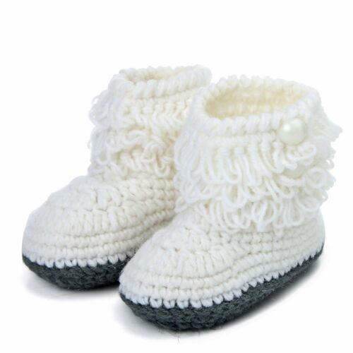 Newborn to 12M Infants Baby Girl Soft Crib Shoes Moccasin Prewalker Sole Shoes