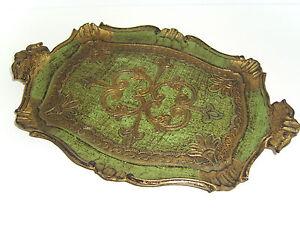 Tablett-venezianisch-gruen-gold-Ornamente-Florentiner