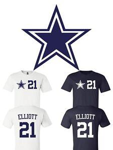 competitive price 318d0 9b226 Details about Ezekiel Elliott #21 Dallas Cowboys Jersey player shirt