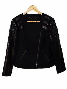 NEW-Karen-Millen-embellished-black-jacket