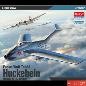 Academy-1-48-Focke-Wulf-Ta183-Huckebein-German-Aircraft-Plastic-model-kit-12327