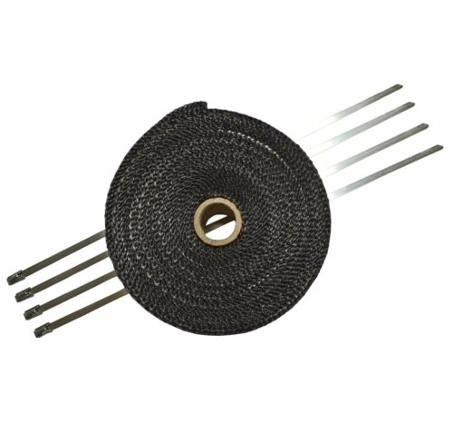 Exhaust Thermal Heat Wrap Manifold Insulating Header Tape Wrap 5cm x 10m Black