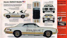 1972 Oldsmobile HURST / OLDS SPEC SHEET/Brochure/Catalog: Indy Pace Car