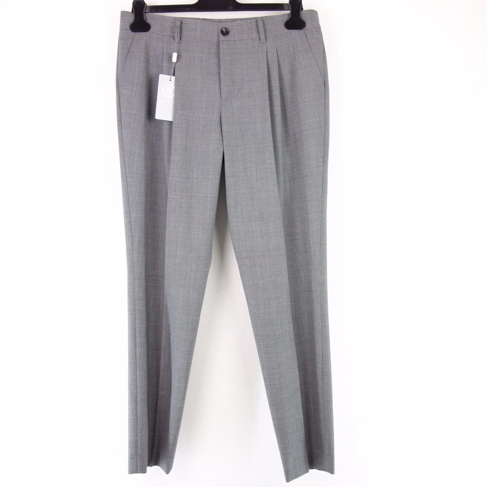 Bogner Women Pants Reese 131 2 12FT L Grey Virgin Wool Cloth Trousers Classic