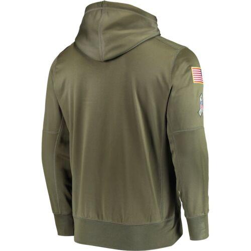 Men/'s Atlanta Falcons Sweatshirt Salute to Service Sideline Therma Hoodie 2019
