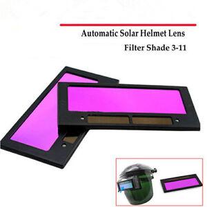 """Arrival solar auto darkening welding helmet lens filter shade 4-1//4/"""" x 2/"""" PLV"""