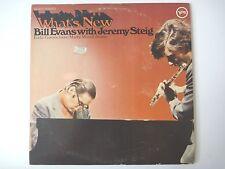WHAT'S NEW: BILL EVANS WITH JEREMY STEIG 1969 ORIGINAL LP VINYL RECORD VERVE NM