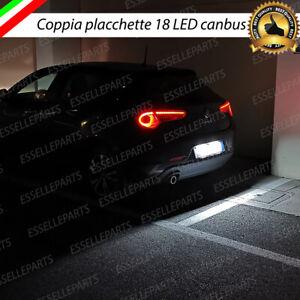 COPPIA PLACCHETTE / PLAFONIERE 18 LED LUCI TARGA CANBUS GIULIETTA