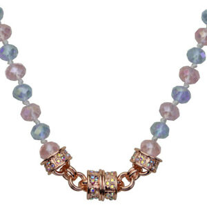 Kirks-Folly-Rosy-Violet-Beaded-Magnetic-Interchangeable-Necklace-Rose-Goldtone