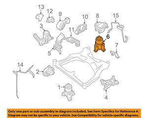 nissan oem 11 15 quest engine motor mount torque strut 113201aa0b ebay 2012 nissan quest engine diagram  2004 Nissan Quest Parts Diagram image is loading nissan oem 11 15 quest engine motor mount