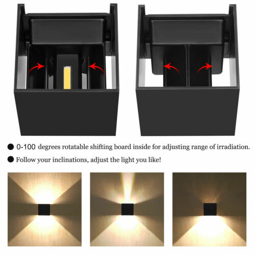 Modern Nordic LED Up Down Cube Wall Light Outdoor Waterproof Sconce Balcony Lamp