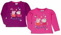 Peppa Wutz langarm Shirt 98 104 110 116 122 128 Mädchen Langarmshirt T-Shirt Pig
