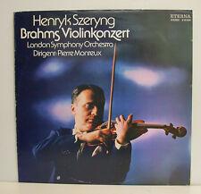 """HENDRYK SZERYNG BRAHMS VIOLINKONZERT PIERRE MONTEUX 12""""LP (e315)"""