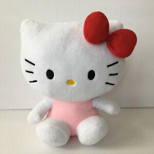 "Sanrio Hello Kitty in pink skirt 9/"" Plush Toy Christmas gift Stuffed Animal Doll"