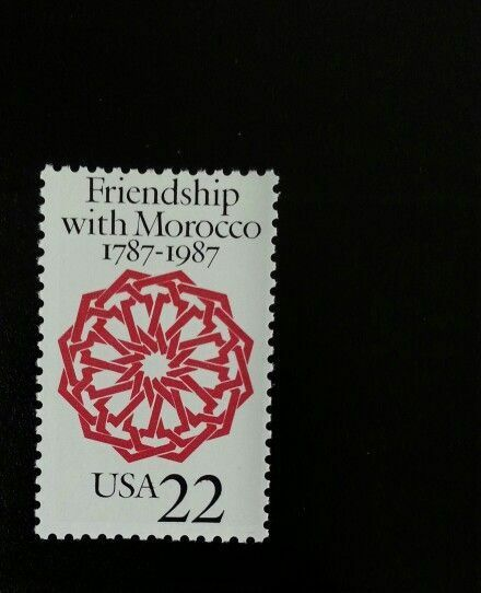 1987 22c United States & Morocco Relations, 200th Scott