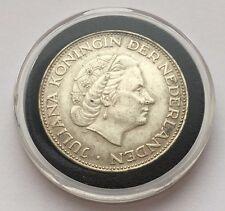 1966 NETHERLANDS 2-1/2 GULDEN SILVER COIN