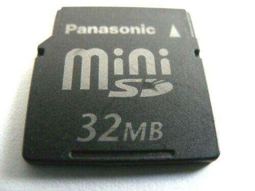 gebraucht 32MB 512MB  Mini SD Card 32 MB // 512 MB MiniSD Karte