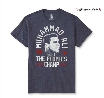 Muhammad Ali USA Boxing Cassius Clay People/'s Champ Grey T-Shirt Big Sizing