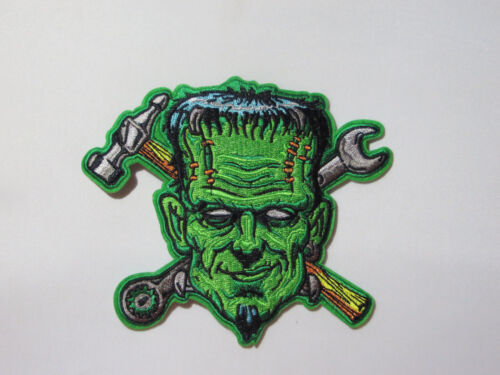 """FRANKENSTEIN LARGE 5/"""" TALL OUTRAGEOUS EMBROIDERED IRON ON//SEWN ON PATCH"""