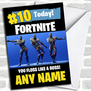 Fortnite Dances Floss Like A Boss Customised Children S Birthday