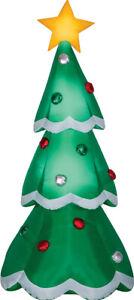 CHRISTMAS-SANTA-METALLIC-TREE-AIRBLOWN-INFLATABLE-7-FEET-LED-GEMMY