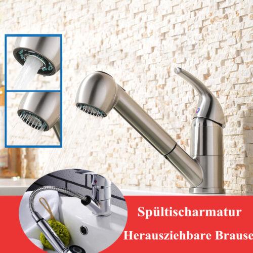Küchenarmatur Ausziehbar Mischbatterie Wasserhahn Küche Armatur Einhebel