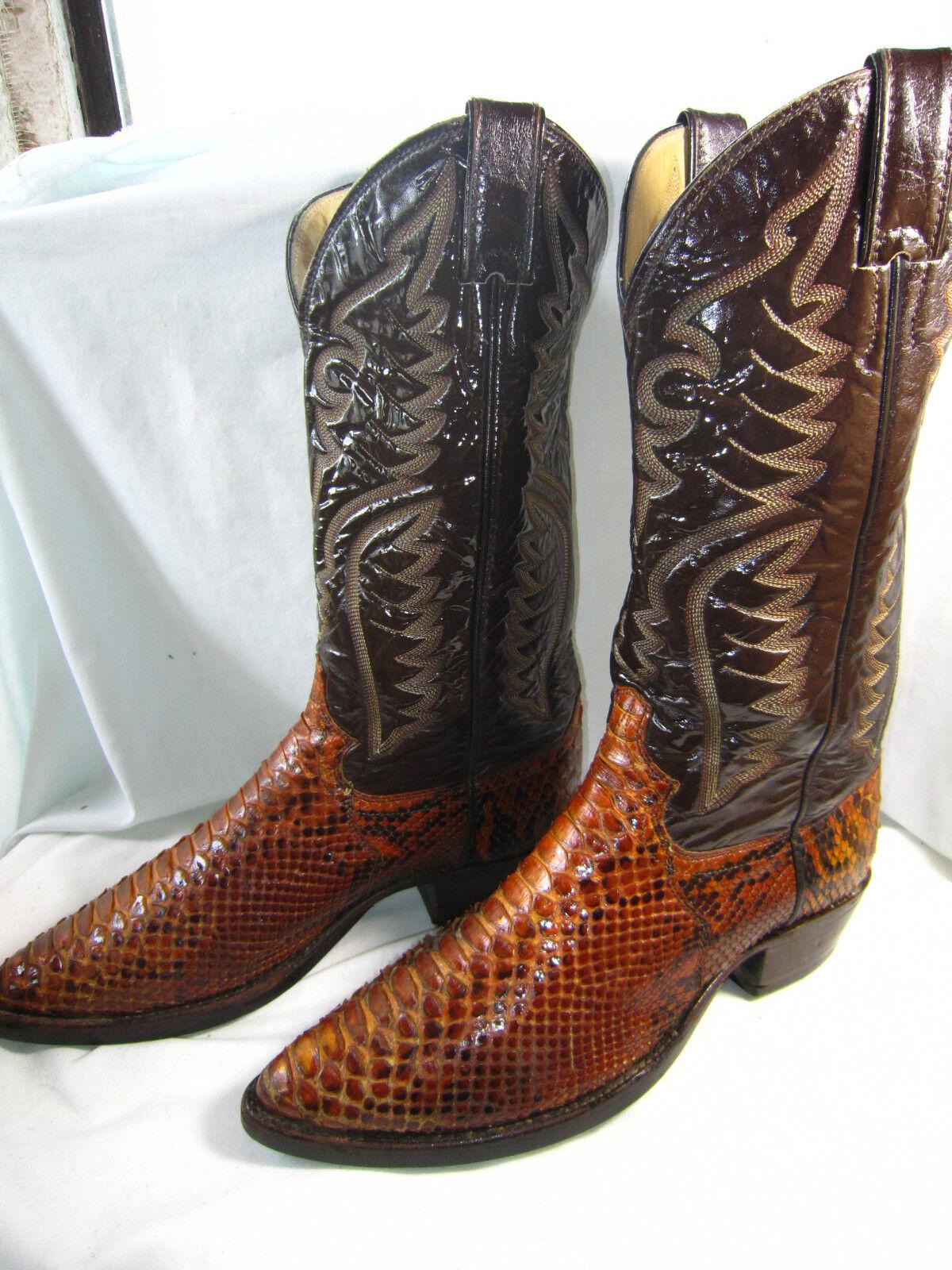 Rare   Vintage JUSTIN Python Snake Cowboy Stiefel USA - (8 D Men) (9.5 damen)