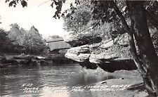 Indiana In Real Photo RPPC Postcard c1940s MARSHALL Turkey Run Covered Bridge 2