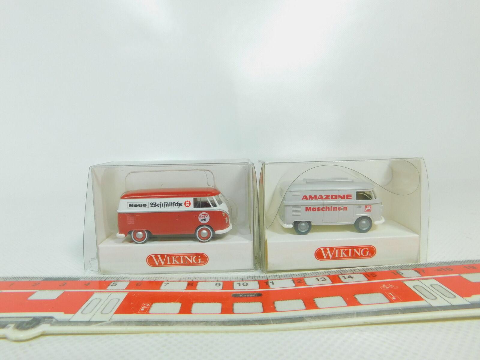 BO520-0, 5 x Wiking H0   1 87 VW T1   Bulli  0797 Westphalian +799 Amazone Nip