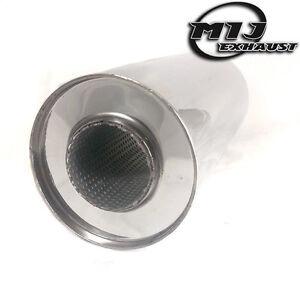 "Resonator Silencer Muffler 6/"" x 2.5/"" x 14/"" Universal Stainless Exhaust Back Box"
