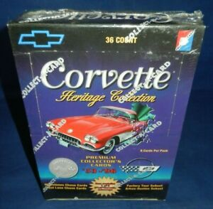 NEW-SEALED-Corvette-Heritage-Collection-Trading-Cards-36-packs-Regular-amp-Chase