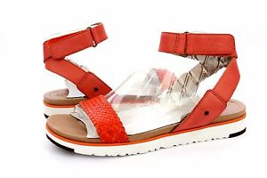 9aab3586776 UGG AUSTRALIA LADDIE FIRE OPAL ANKLE STRAP LEATHER SANDALS SIZE 9.5 ...
