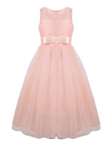 Flower Girl Dress Princess Party Pageant Wedding Bridesmaid Tutu Dress Maxi Gown