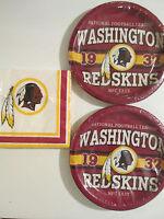 Washington Redskins -nfl Football Est. Party Supplies W/ Plates & Napkins