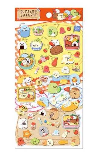 US SHIP New San-x Sumikko Gurashi Bento Stickers Sheet Cute Kawaii Japan