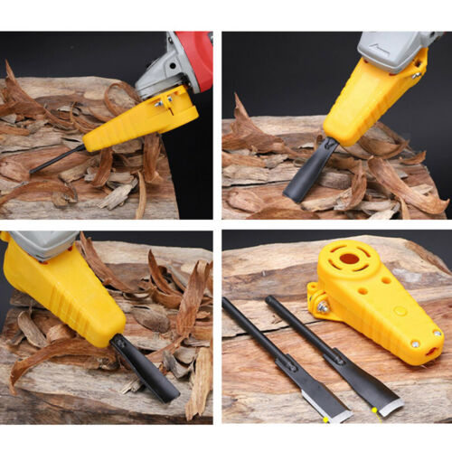 Meißelbefestigungsset mit Meißeln für Winkelschleifer Holzbearbeitung