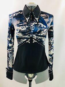 Medium-Western-Show-Pleasure-Rail-Shirt-Jacket-Clothes-Showmanship-Horsemanship