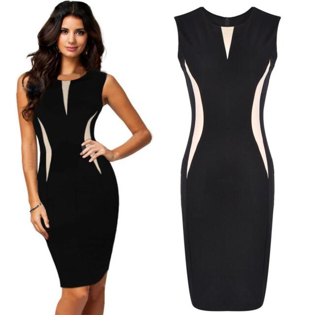 Celeb Women Cool Beautiful Pencil Bodycon Sleeveless Formal Party Business Dress