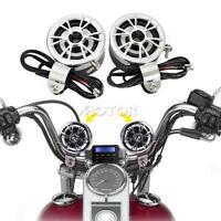 Dc12v Silver Motorcycle Audio Mp3 Stereo Handlebar Speaker Amplifier Waterproof