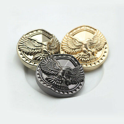 12Pcs Black Eagle Carved Decorative Shank Buttons Metal Sewing Embellishment