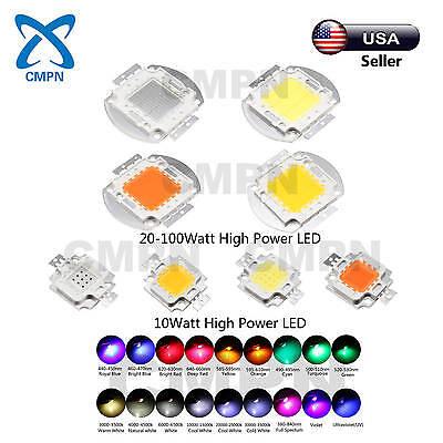 10W High Power COB LED Chip SMD White UV Red Blue Green RGB Light Beads Buld USA