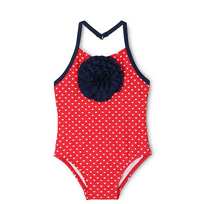 NEW Sprout Halter One Piece Swimsuit With Rosette Red